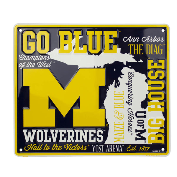 MS90008 - Michigan Wolverines Fan Cloud Sign