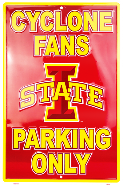 PS30039 - Iowa State Cyclone Fans Parking Only