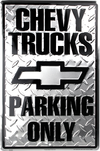 PS30060 - Chevy Trucks Parking Only