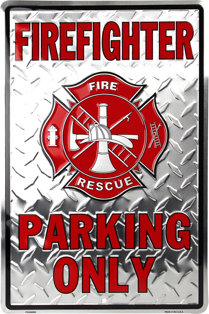 PS30094 - Firefighter Parking Only With Maltese Cross
