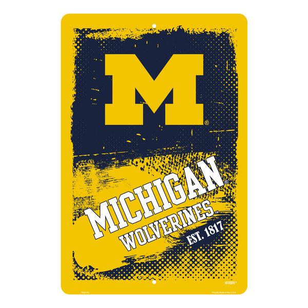 PS30173-  Michigan Wolverines Grunge Sign