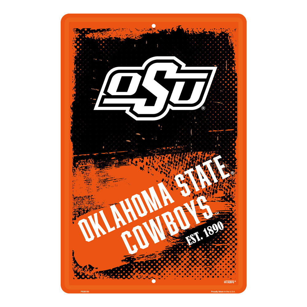 PS30180-  Oklahoma State Cowboys Grunge Sign