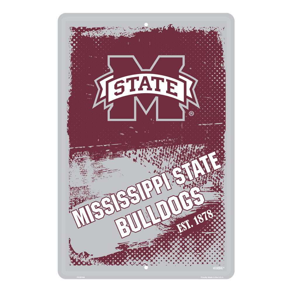 PS30184-  Mississippi Bulldogs Grunge Sign