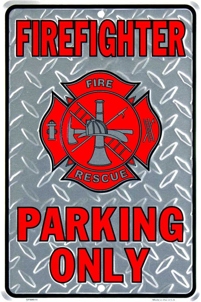 SP80010 - Firefighter Parking Only with Maltese Cross