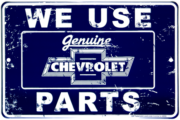SP80025 - We Use Genuine Chevrolet Parts