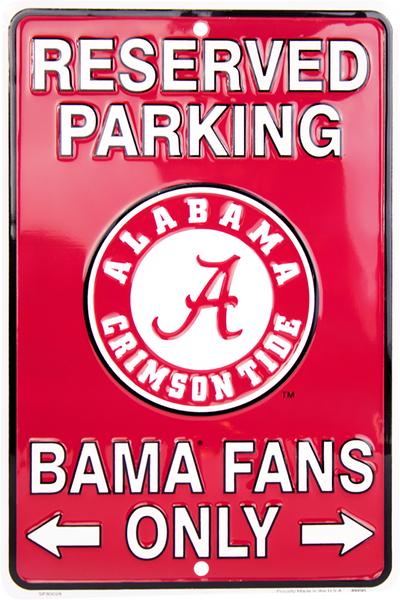 SP80028 - Reserved Parking Bama Fans Only