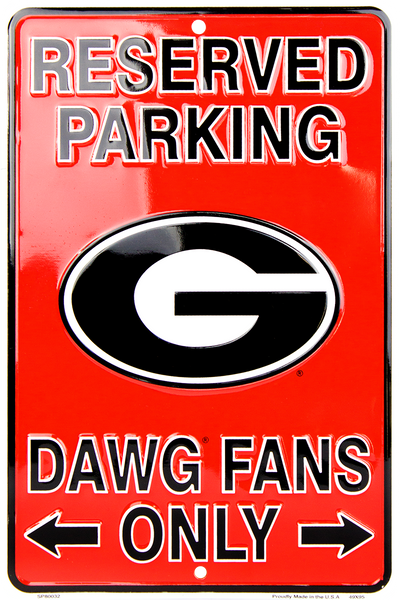 SP80032 - Reserved Parking Dawg Fans Only