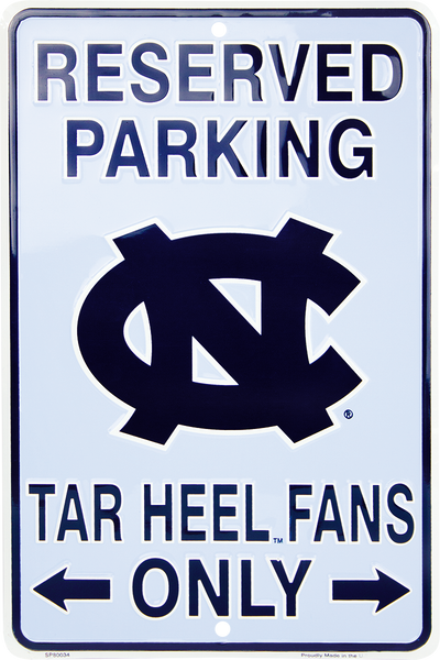 SP80034 - Reserved Parking Tar Heel Fans Only