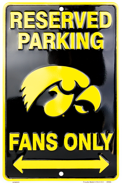 SP80040 - Reserved Parking Hawkeye Fans Only