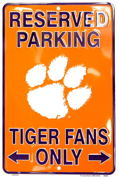 SP80053 - Reserved Parking Tiger Fans Only