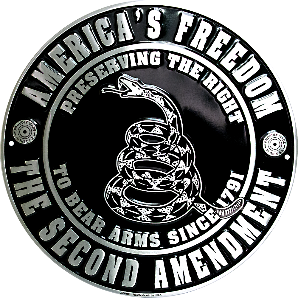CS60118 - Second Amendment Circle Sign