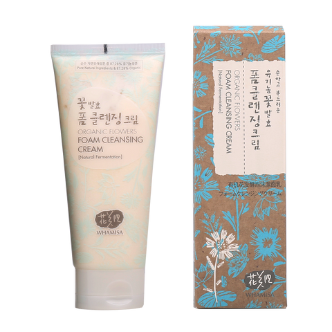 Organic Flowers Foam Cleansing Cream - Whamisa
