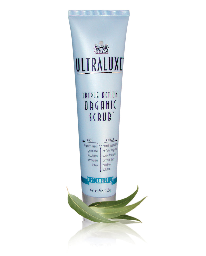 Triple Action Organic Scrub - Discoloration - UltraLuxe - The Beauty Blazers - UltraLuxe