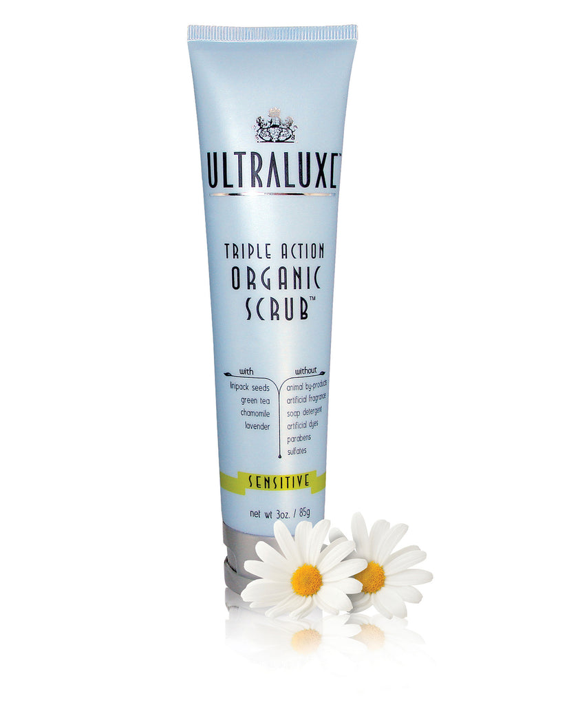 Triple Action Organic Scrub - Sensitive - UltraLuxe - The Beauty Blazers - UltraLuxe