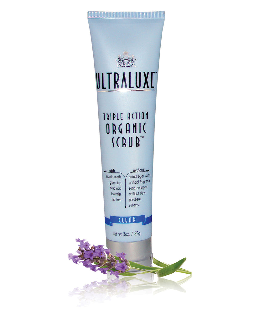 Triple Action Organic Scrub - Clear - UltraLuxe - The Beauty Blazers - UltraLuxe