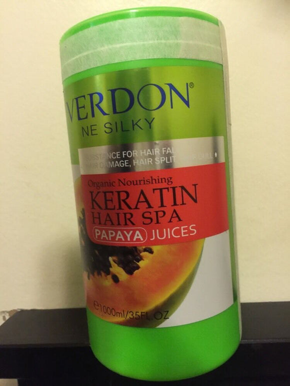 VERDON NE SILKY Organic Keratin Hair Spa - Papaya Juices.USA SELLER. 1000ml