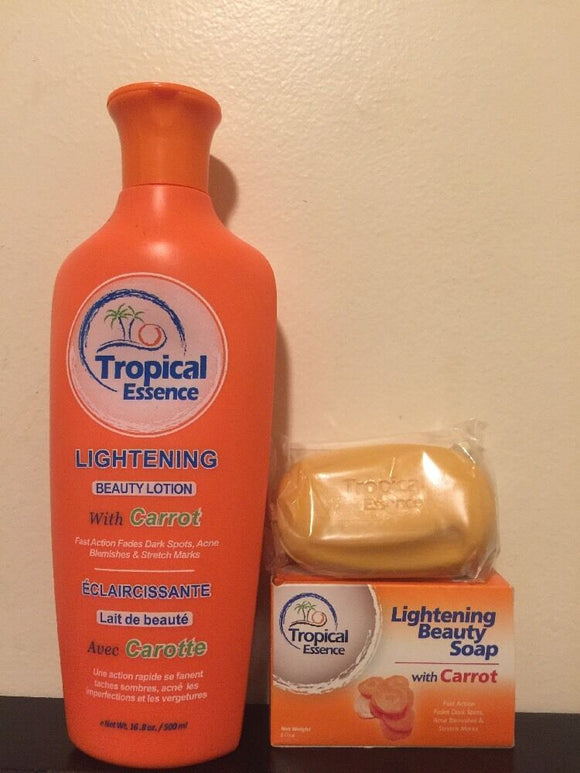 Tropical Essence Lightening Beauty Lotion with carrot-- comes with free soap
