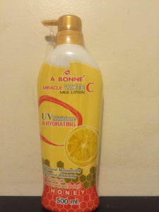 A BONNE Miracle WHITE C Milk Lotion 500ml.
