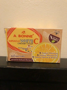 A Bonne Miracle White C Honey Creamy Soap 90g