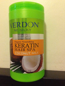 VERDON NE SILKY Organic Keratin Hair Spa - Coconut Milk. USA SELLER. 1000ml