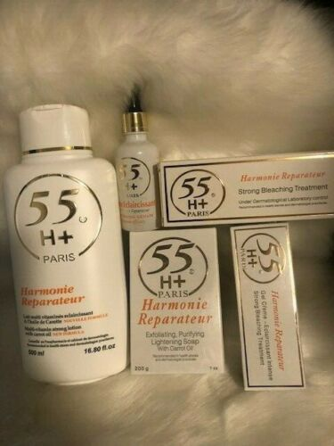 55H+ HARMONIE REPARATEUR SET. Lotion + Cream + Gel + Soap + Serum. 5 ITEMS