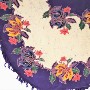 "Oval Tablecloth  52""x 60""   including 4 napkins"
