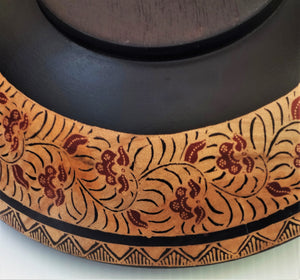 "Wooden Bowl 12"" wide and 3 3/4"" deep"
