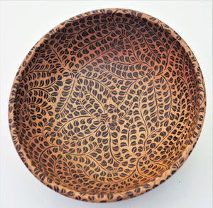 "Wooden Bowl 8"" wide and 2 1/2"" wide"