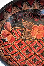 "Load image into Gallery viewer, Batik Wooden  Bowl 10"" wide and 2 3/4"" deep"
