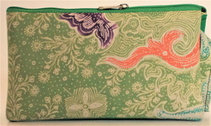 "Cosmetic Bag 7.25 x 4.25"" - 3 sections"