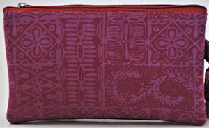 "Cosmetic Bag 7.25"" x 4.5"" - 3 Sections"