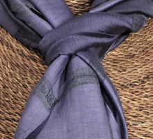 "Load image into Gallery viewer, Thai Silk/Cotton Scarf 24"" x 65"""