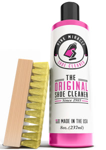 Pink Miracle Shoe Cleaner Kit with Brush - 8 OZ