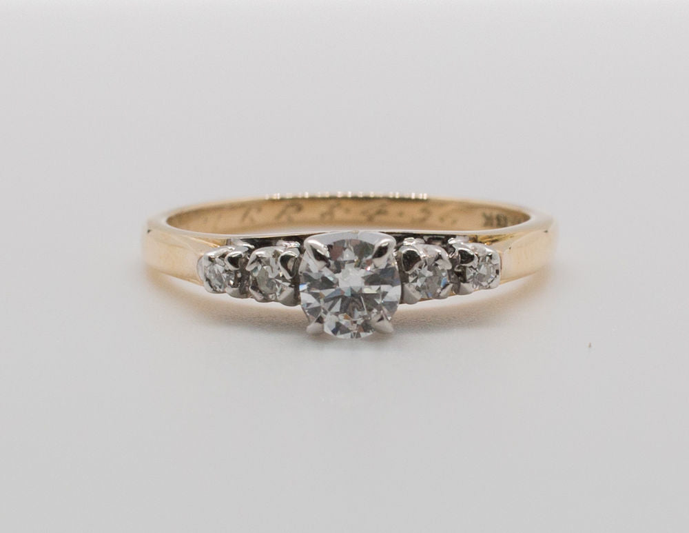 14K & 18K 2 TONE SOLITAIRE Ring