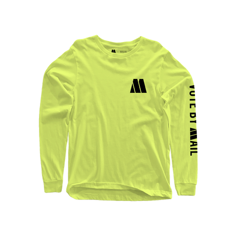 Motown Vote By Mail Long Sleeve T-Shirt - Neon