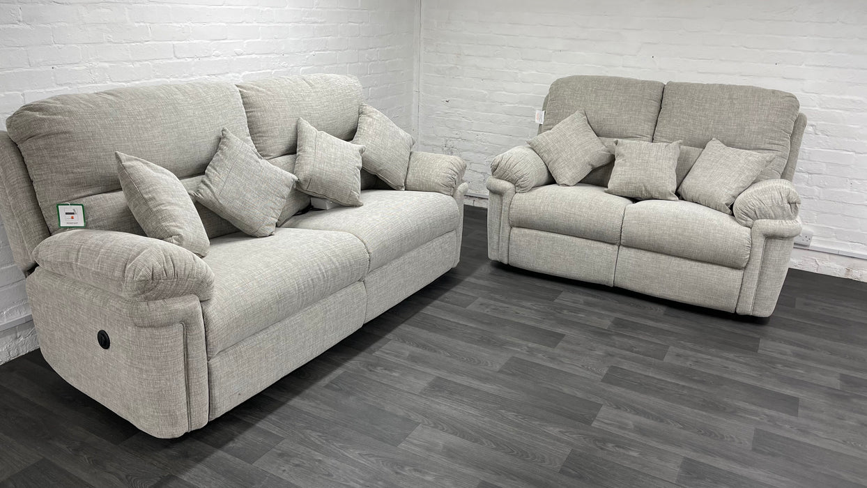 Layz Boy 3 seater and 2 seater electric sofa