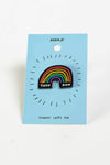 Then and Now rainbow pin