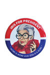 Iris For President Button