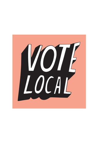 Vote Local Sticker