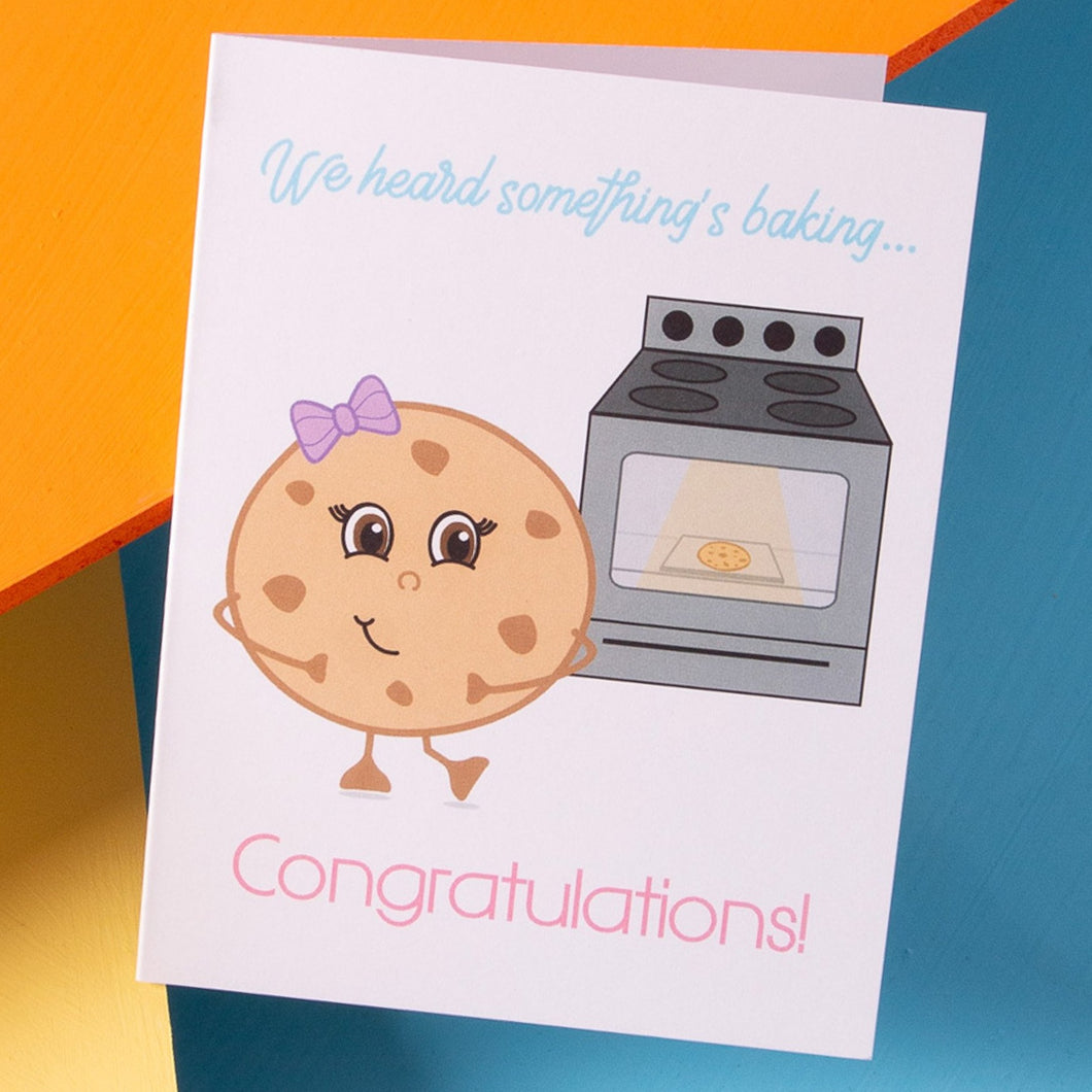 Something's Baking - Pregnancy Card