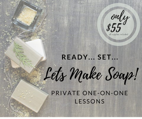 Private Cold Process Soap Making Class - Beginners