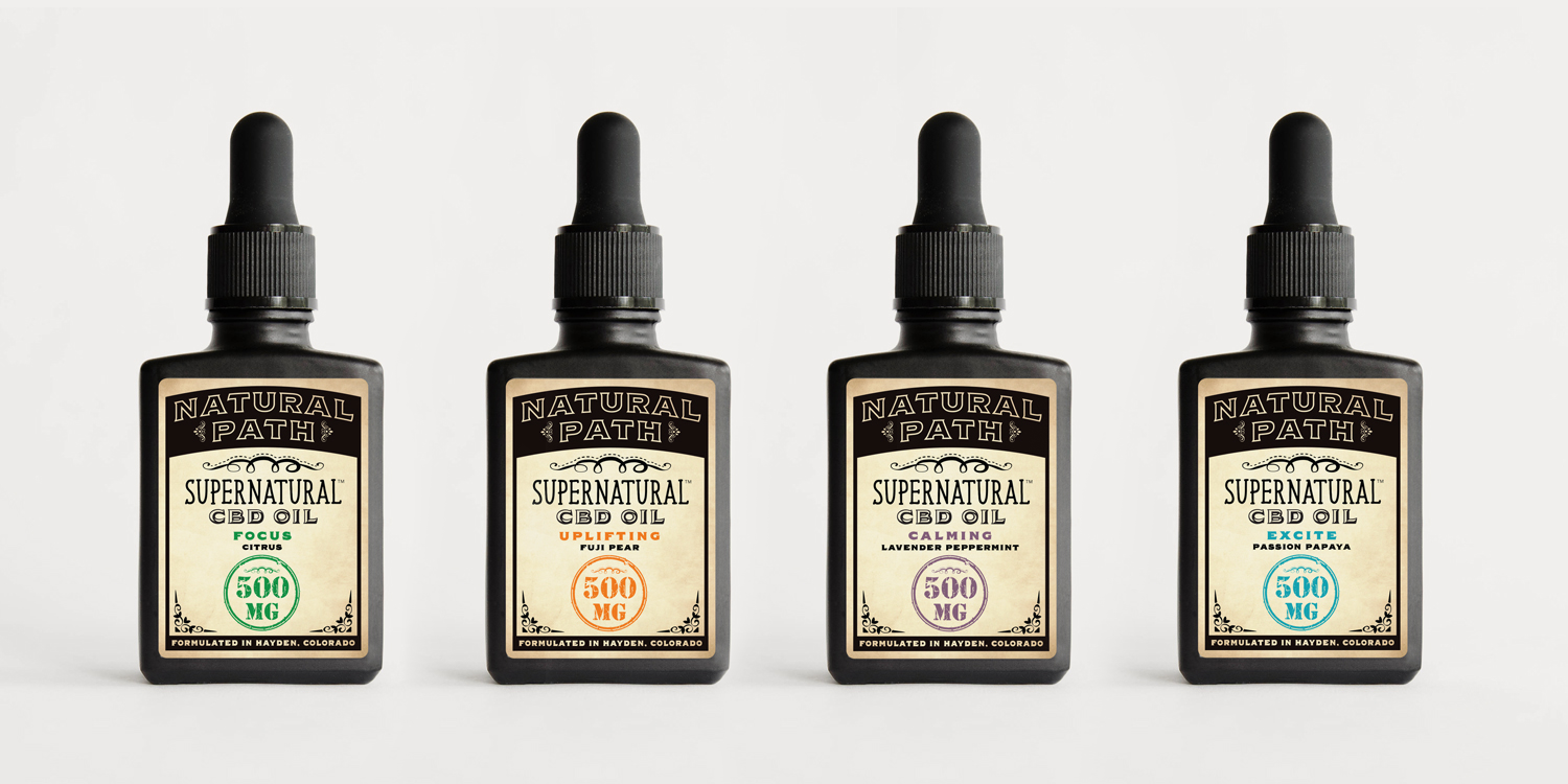 Our Supernatural CBD Oil Starter Kit features our four different flavors to help get you started on the Natural Path! All our CBD oils are formulated in Hayden, Colorado on sustainable family farms making our CBD one of the purest, most organic CBD oils on the market and since we choose to price our products fairly, you win.
