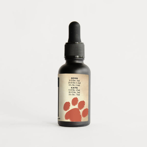 Supernatural 500 mg CBD Oil for Pets with MCT Oil from Natural Path Botanicals organic CBD with Omega-3 Fish Oil.