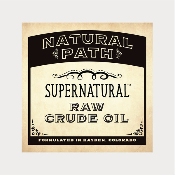 Natural Path Botanicals Supernatural Raw Crude CBD Oil grown on sustainable family farms in Colorado.