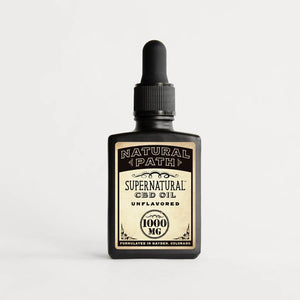 Supernatural CBD Oil 1,000 mg organic CBD oil from Natural Path Botanicals with an Unflavored flavor. Made in the USA.