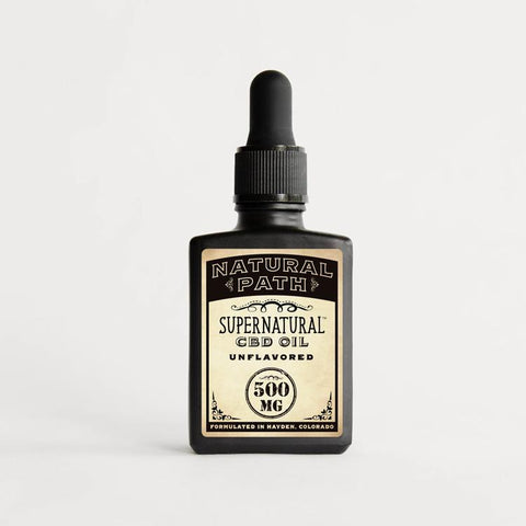 Supernatural CBD Oil 500 mg organic CBD oil from Natural Path Botanicals with an Unflavored flavor. Made in the USA.