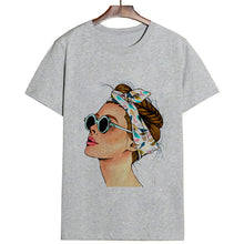 Load image into Gallery viewer, Women Summer Vogue Print Lady Casual T-shirt  (Up to XXL) - MULTIPLE STYLES