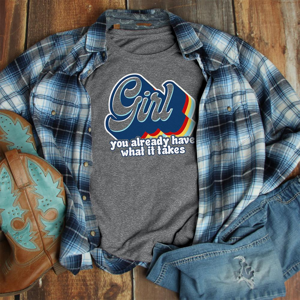 Retro Layered Girl Tee