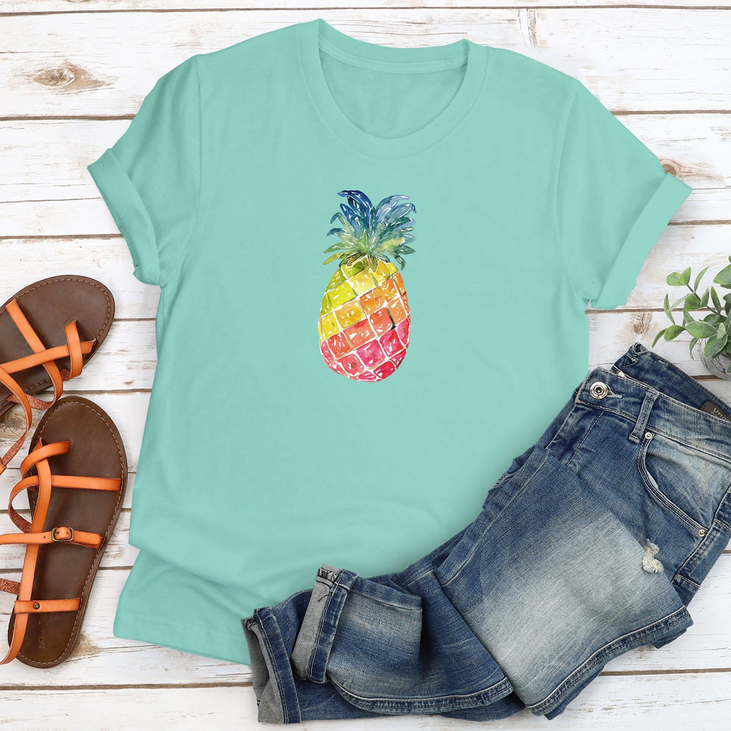 Watercolor Pineapple - Up to XXXL
