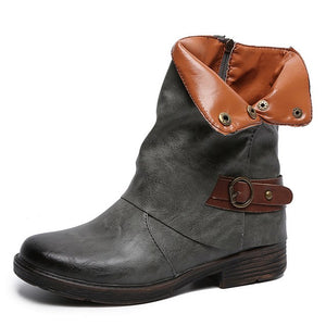 Vintage Martin Boots Round Toe Leather Booties